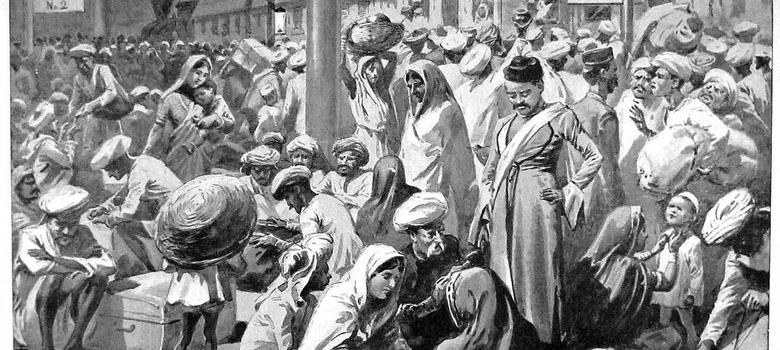 The bubonic plague of India 1896-97 originated in China ...