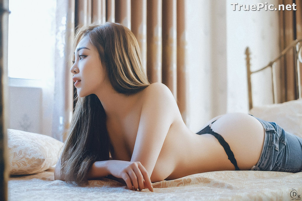 Image Vietnamese Model - Sexy Angel In Black Lingerie and Jean - TruePic.net - Picture-2