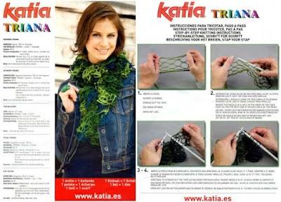 Como Tejer una Bufanda de Red Katia Triana