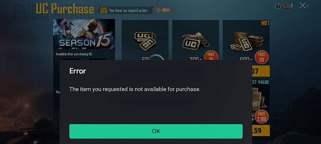 Purchase PUBG Mobile UC After Ban