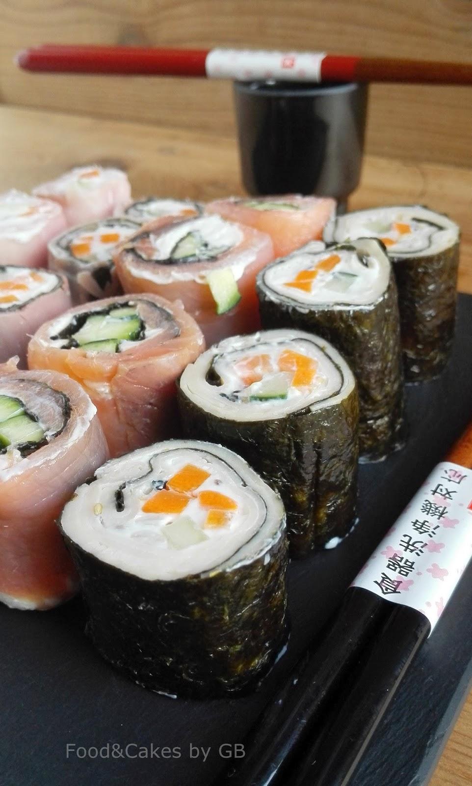 Food cakes sushi falso con queso descremado y - Cocinar sushi facil ...