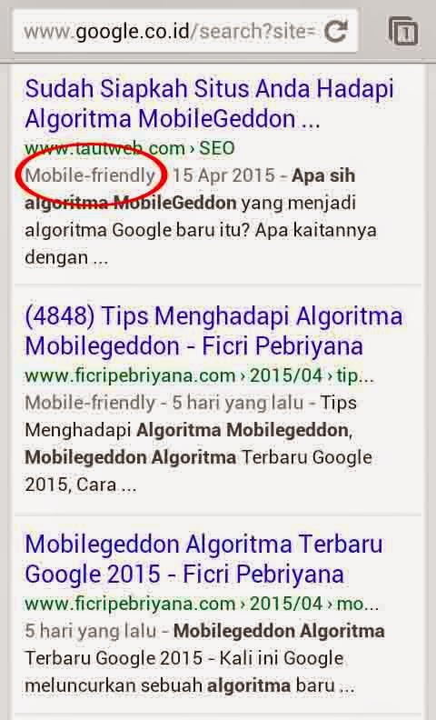 Algoritma Mobilegeddon_Mobile friendly