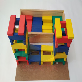Balok Kapla Warna 100 Mainan Kayuku