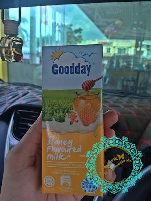 Honey Flavored Milk, good day, green tea, sedap tak susu baru, nak beli kat mana, mesra, petronas, 7eleven, harga, madu, kebaikkan madu, susu madu,