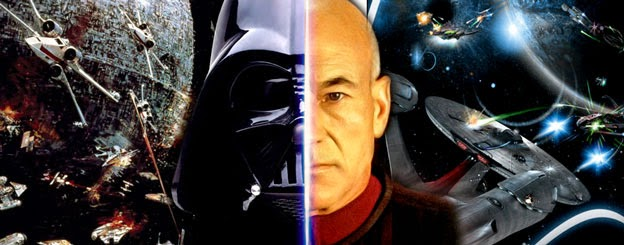 "Star Wars Darth Vader vs. Star Trek Captain Picard ""Opposing forces"""