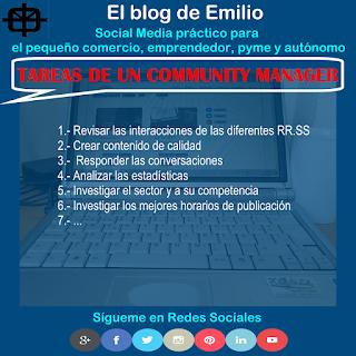 tareas de un community manager