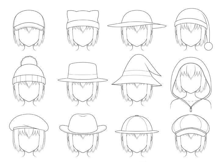 Topi anime menggambar