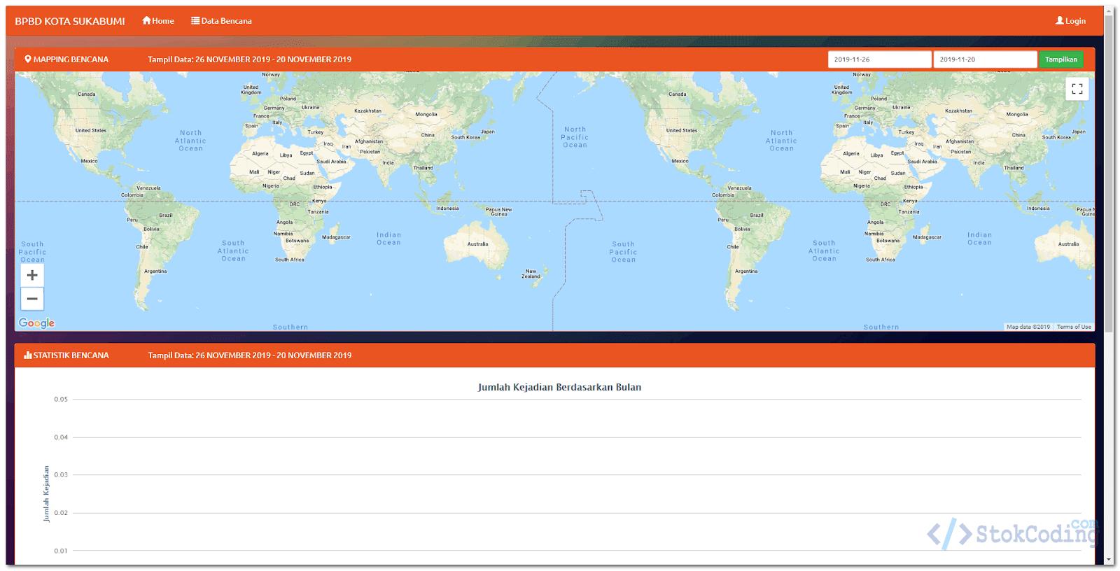Sistem Informasi Mapping Online Bencana BPBD (PHP)