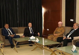 The president of the Iraqi Kurdistan Region and two Iraqi vice presidents