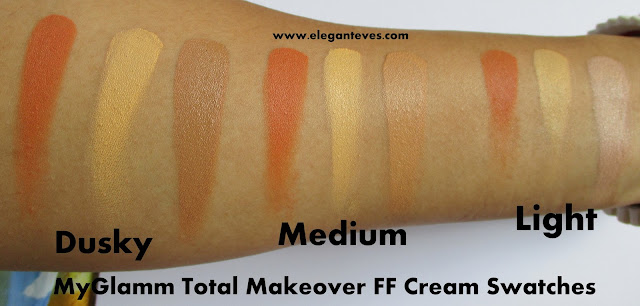 MyGlamm Total Makeover FF Cream review all shades