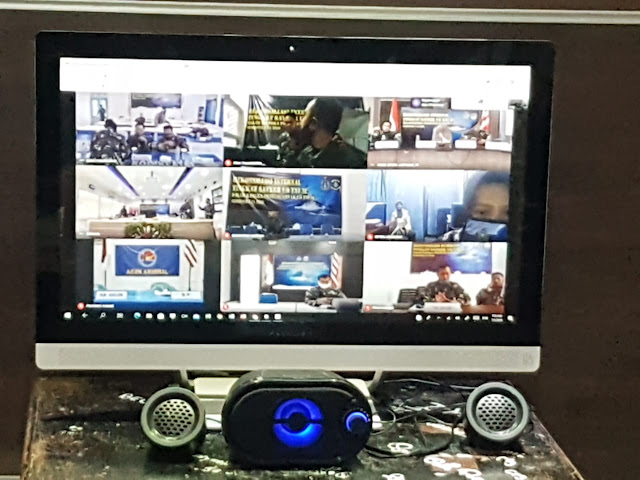 Lanal Mataram Hadiri Kegiatan Rekonsiliasi Secara Virtual