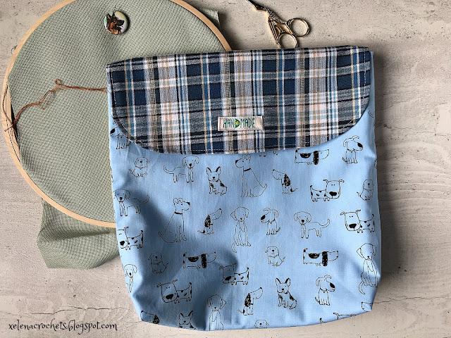 конверт для вышивки с клапаном