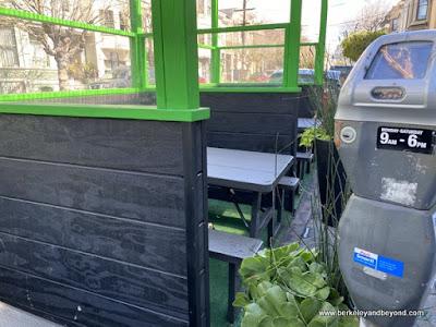 parklet with parking meter at Shake Shack in San Francisco, California