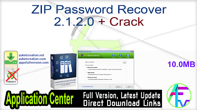 ZIP Password Recover 2.1.2.0 + Crack