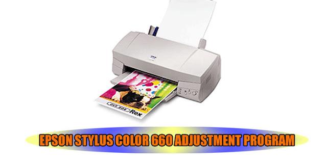 Epson Stylus Color 660 Printer Adjustment Program