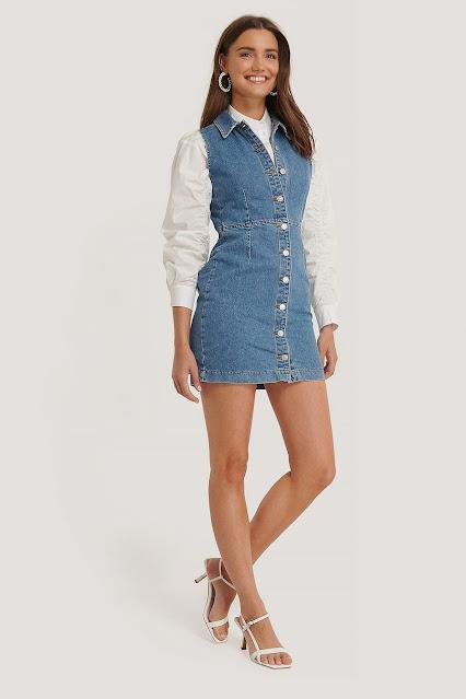 Jeansowa sukienka na lato