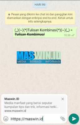 Begini cara mengubah font text pada WhatsApp terbaru