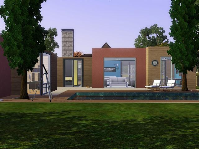 pavillon moderne couleurs sims 3