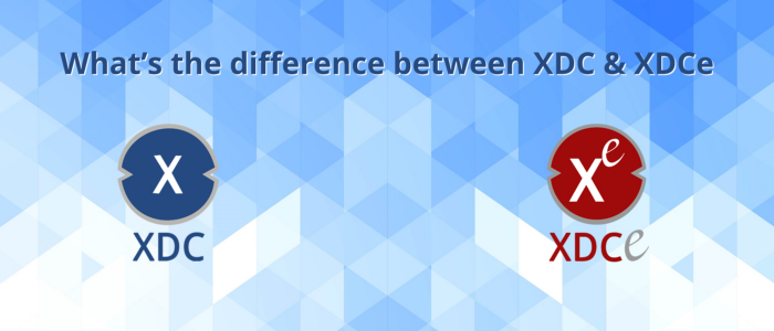 difference xdc vs xdce