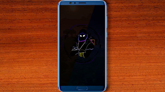 Crow Fortnite Battle Royale Neon Artwork - FHD pour Mobile