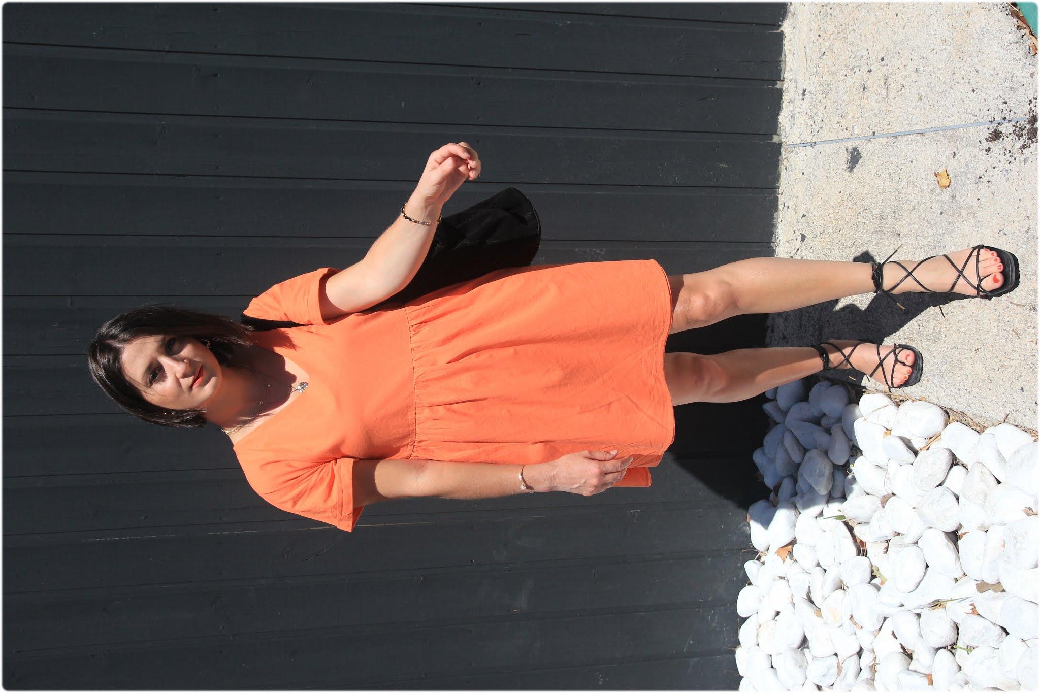 La petite robe abricot SHEIN