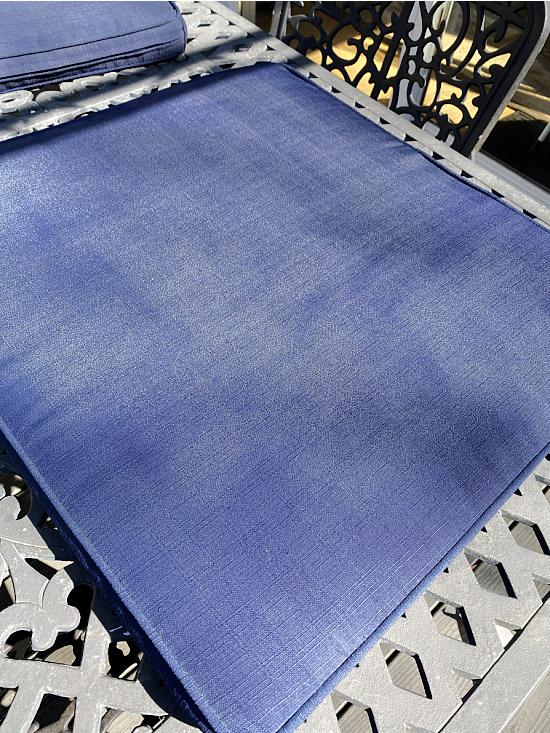 Navy blue spray painted cushion