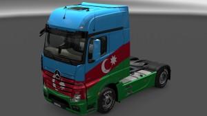 Azerbaijan skin for Mercedes MP4