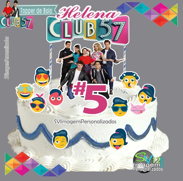 topper de bolo Club 57 festa anos 60 dicas e ideias para decoração de festa personalizados