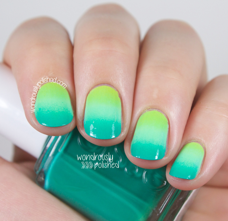 Gradient Nail Art: Wondrously Polished: Geometric Gradient Nail Art