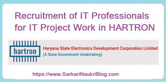 HARTRON IT Professional Vacancy Recruitment