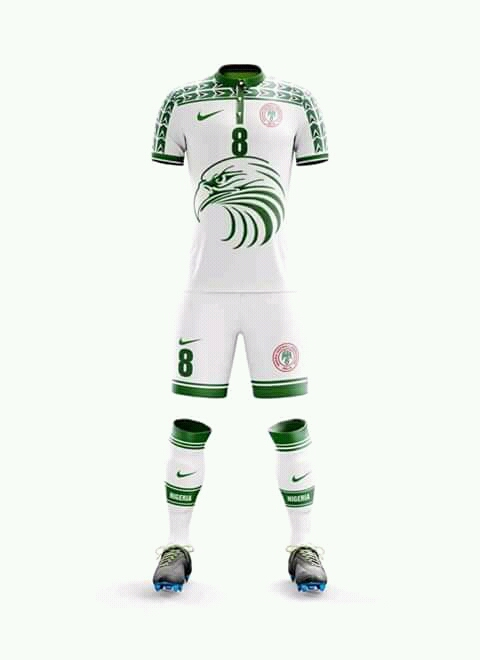 superior quality 67a43 b47fc Official Football Kits of Nigeria's Super Eagles to Russia ...
