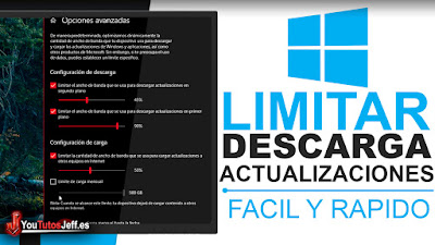 Limitar Ancho de Banda en la Descarga de Actualizaciones en Windows 10