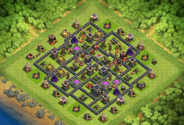 5 TOP Base TH 9 Farming , coc , clash of clans