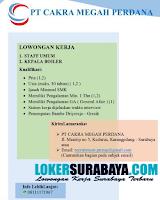 Info Lowongan Kerja di PT. Cakra Megah Perdana Surabaya Terbaru Oktober 2019