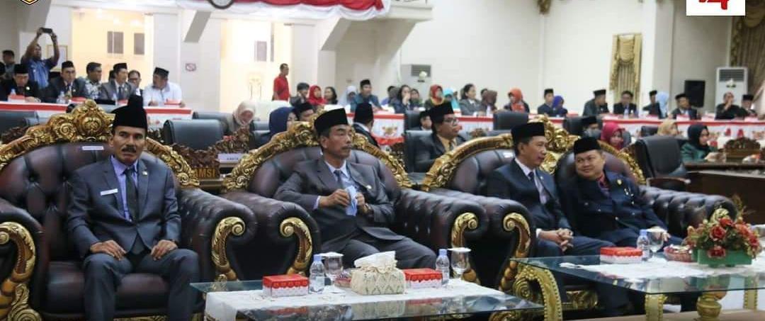 Pemkab dan DPRD Rapat Paripurna Mendengarkan Pidato Kenegaraan Presiden RI
