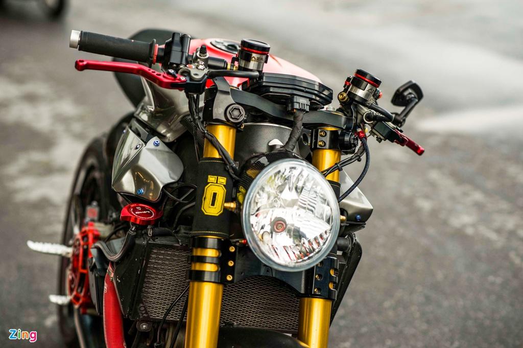 Ducati 1199 Panigale S biến hình thành cafe racer của biker Hà Nội