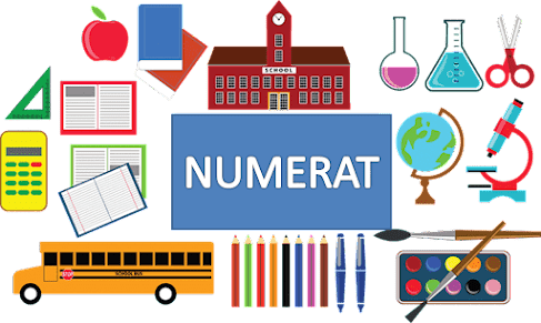 Aspek numerasi untuk beberapa mapel selain Matematika; Penguatan numerasi pada  mata pelajaran non matematika pada intinya adalah melihat mata pelajaran lain memberikan kesempatan  untuk menerapkan keterampilan dan pengetahuan matematika yang telah dipelajari peserta didik melalui kegiatan yang bermakna.