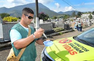 Vistoria de combate ao mosquito Aedes aegypti em Teresópolis