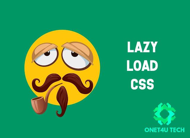 Cara Memasang Lazy Load CSS