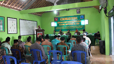Koramil 09/ Pituruh Jalin Komunikasi Sosial dengan Komponen Masyarakat