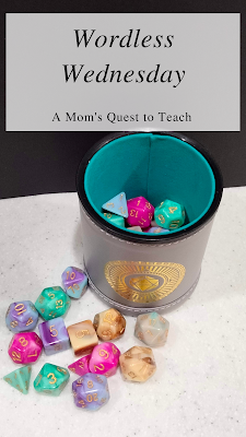 A Mom's Quest to Teach: Wordless Wednesday Wonder Cup of Dice