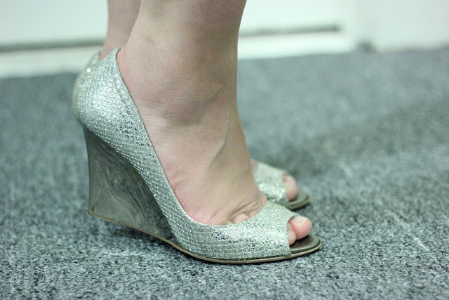 Jimmy Choo Glitter Wedges