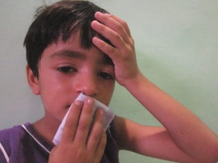 Image showing child flu patient