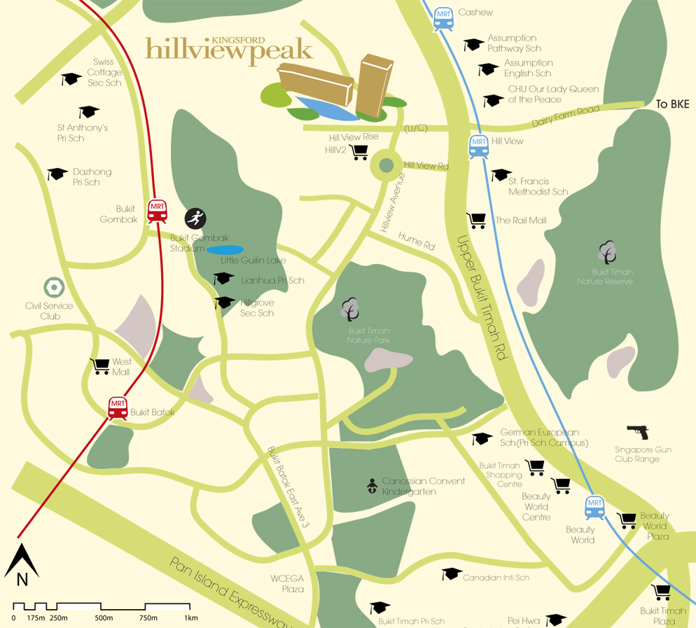 Kingsford Hillview Peak Location Map