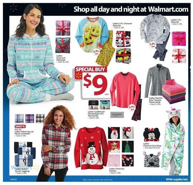 Walmart Black Friday Deals 2016 Ladies Clothing, Sleepwear and Women Shirts