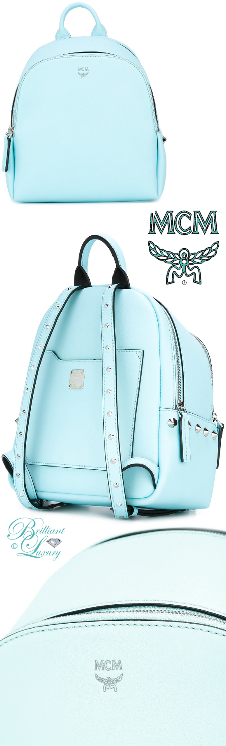 Brilliant Luxury ♦ MCM Studded Mini Backpack
