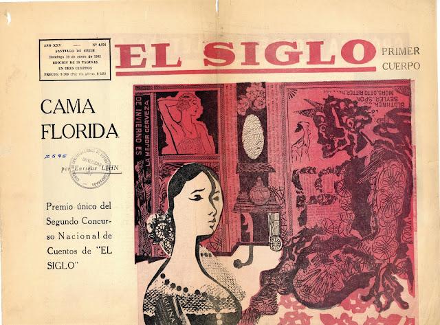 Enrique Lihn: relato la Cama Florida (Ganador del concurso de cuento de El Siglo en 1965)