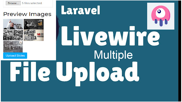 Laravel Livewire Multiple Files Upload API with Loading and Preview Image