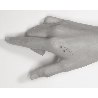 Small Shooting Star Tattoo