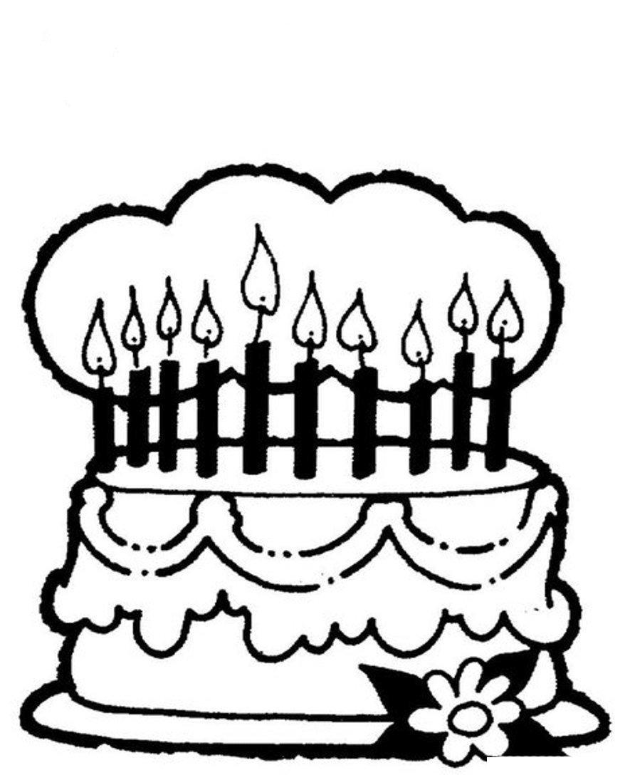 Download Mewarnai Gambar Kue Ulang Tahun